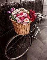 Basket of Flowers I Fine Art Print
