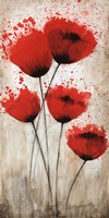 Luminous Crimson II Fine Art Print