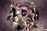 Doctor Who - Doctors Collage Framed Print