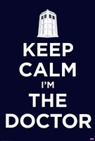 Doctor Who - Keep Calm Framed Print