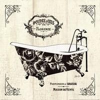 French Bath II- Tub Framed Print