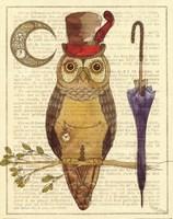 Steampunk Owl I Fine Art Print