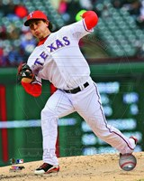 Derek Holland 2013 Action Fine Art Print