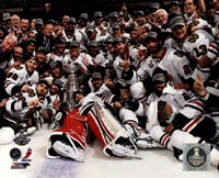 Chicago Blackhawks celebrate 2013 Stanley Cup Finals Fine Art Print
