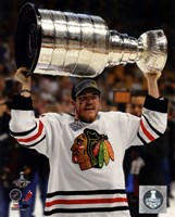 Andrew Shaw with the Stanley Cup Game 6 of the 2013 Stanley Cup Finals Fine Art Print