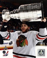 Patrick Kane with the Stanley Cup Game 6 of the 2013 Stanley Cup Finals Fine Art Print