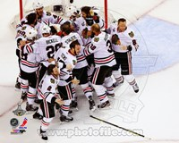 The Chicago Blackhawks celebrate winning Game 6 of the 2013 Stanley Cup Finals Fine Art Print