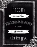 Humble Beginnings Fine Art Print