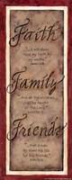 Faith Family Friends Fine Art Print