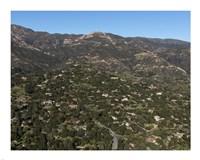 Aerial view of Santa Barbara, California Fine Art Print