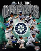 Seattle Mariners All Time Greats Composite Framed Print