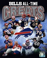 Buffalo Bills All Time Greats Composite Framed Print