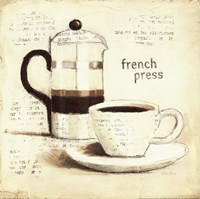Parisian Coffee III Framed Print