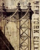 Vintage NY Manhattan Bridge Fine Art Print