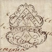 Letter Crest III Framed Print