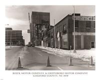 Buick Motor Company & Greensboro Motor Company Guilford County, NC 1979 photography Fine Art Print