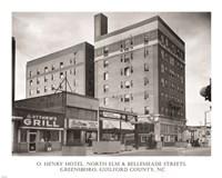 O. Henry Hotel, Greensboro, Guilford County, NC Fine Art Print
