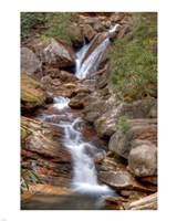 Skinny Dip Falls in Western North Carolina Fine Art Print
