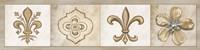 Fleur 4 Panel I Framed Print