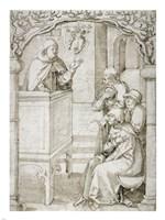 A Monk Preaching Fine Art Print