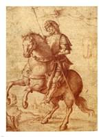 A Saint on Horseback Fine Art Print