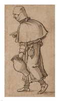 A Peasant Woman Carrying a Jug Fine Art Print