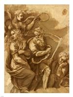 Victory, Janus, Chronos & Gaea Fine Art Print