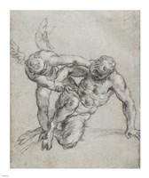 Cupid Overpowering Pan Fine Art Print