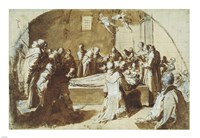 The Deaths of the Blessed Ugoccione and Sostegno Fine Art Print