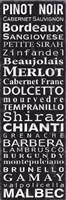Pinot Noir - Black Fine Art Print
