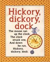 Hickory Dickory Framed Print