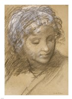 Head of a Female Figure Fine Art Print