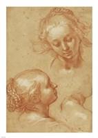 Three Studies of Women Fine Art Print