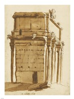 The Arch of Septimius Severus Fine Art Print