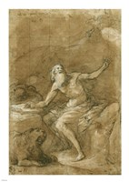 Saint Jerome Hearing the Trumpet of the Last Judgement - posed Fine Art Print