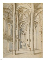Interior of a Gothic Church Fine Art Print