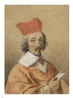 Portrait of Armand-Jean du Plessis, Cardinal de Richelieu Fine Art Print