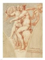 Venus and Cupid after Raphael Fine Art Print