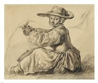 A Milkmaid Fine Art Print