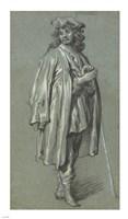 A Young Man Standing Fine Art Print