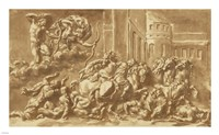 The Sons of Niobe Being Slain by Apollo and Diana Framed Print