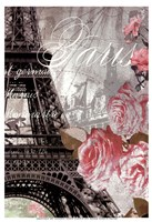 Paris in Bloom I - Mini Fine Art Print