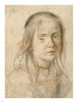 Portrait of a Girl Fine Art Print