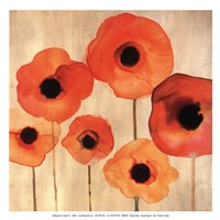 Orange Poppies II -Mini Fine Art Print