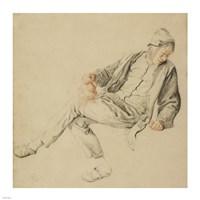 A Seated Peasant Fine Art Print
