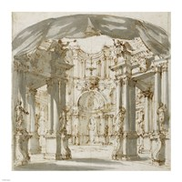 The Courtyard of a Palace: Project for a Stage Fine Art Print