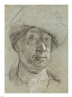 Self-Portrait Wearing a Cloth Hat Fine Art Print