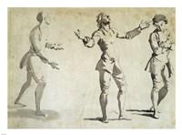 Three Figure Studies Fine Art Print