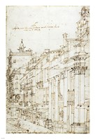 The Campo San Basso: The North Side with the Church Fine Art Print