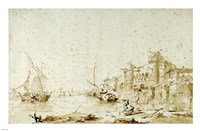An Imaginary View of a Venetian Lagoon Fine Art Print